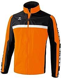 erima Regenjacke 5-Cubes - Chaqueta de ciclismo para hombre, color Naranja, talla 3XL