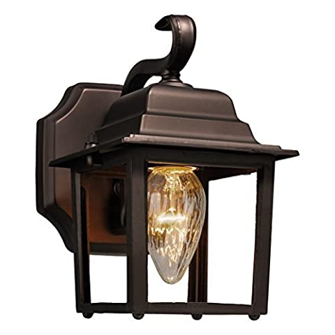 Brinks 7564D-113-1 Coach Light with Photocell Dusk to Dawn Bronze Light by BRINKS