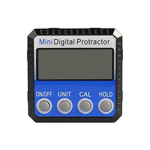 Ktoyols Mini-Zink-Legierung Shell Digitalanzeige Winkelmesser Neigungssensor 0.1 ° Auflösung Unterseite mit Magnet -