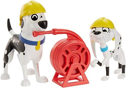 Disney 101 Dalmatian Street Parque de bomberos con figura Dolly y Papá perruno y accesorios, juguete niños +5 años (Mattel GBM38)