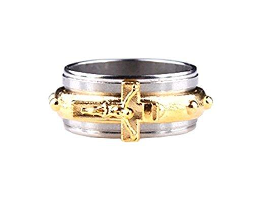 Ring mit Kruzifix Bild von Jesus Christus Rosenkranz - Geschenkidee Mann und Frau (22)