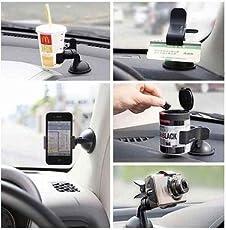 Flyngo Car Phone Holder Mount 360 Degree Rotation Phone Car Holder Mobile Phone Holder for Car Dashboard & Windshield