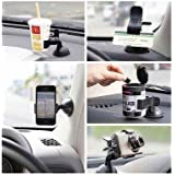 Flyngo Car Phone Holder Mount 360 Degree Rotation Phone Car Holder Mobile Phone Holder For Car Dashboard & Windshield