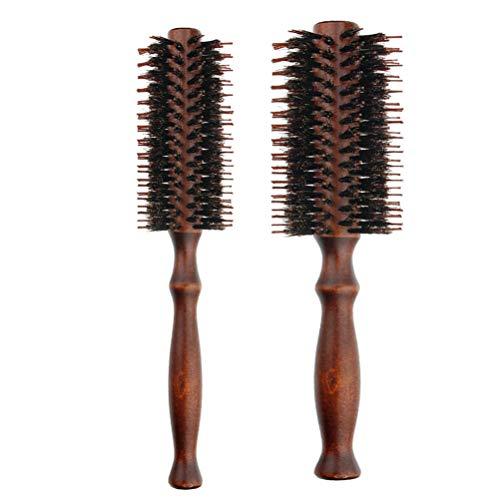 Lurrose 2pcs Peines madera naturales cepillo pelo