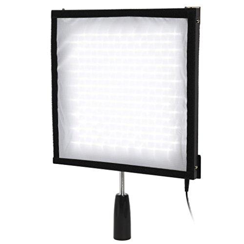 """Polaroid Flexible Panel de iluminación LED con mando a distancia de 4canales–Canillera, Slim, Ultra brillante luz para fotografía–12x 12, """"CRI > 90, 5500K, 256ledes, Max 4500LM"""