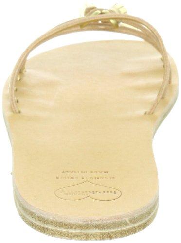 Swedish Hasbeens Tassel Sandal Flat 006, Sandali donna Oro (Gold (Gold))