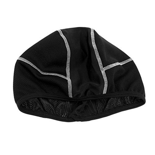 Homyl Mützen Sport Herren Damen Skull Caps Fahrrad Bike Mützen Helmmütze Windstopper Kopfbedeckung Helm-Unterziehmütze - Weiß Sport Mütze