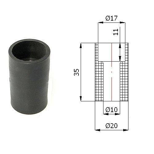 Zabi Führungsrolle - Nylon Kunststoff-Führungsrollen für Schiebetore Ø 20mm