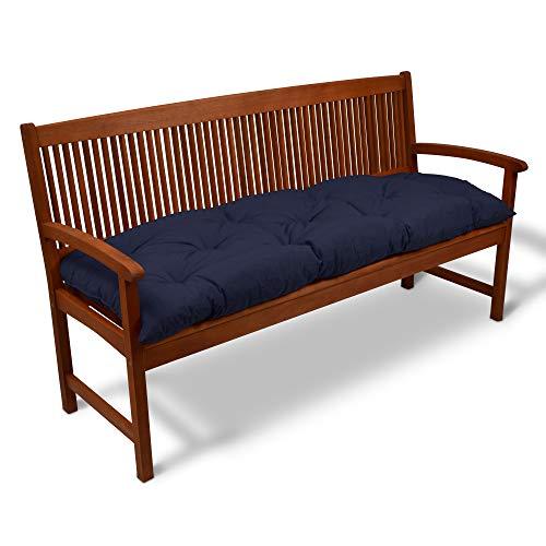 Beautissu Bankauflage Flair BK ca.120x50x10 cm Bequeme Polster Garten-Bank Auflage Sitzauflage Bank in Blau erhältlich