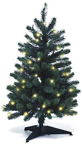 Lönartz® Naturgetreuer künstlicher Weihnachtsbaum PE-Spritzguss mit Beleuchtung (70 LEDs, 3,5W), Höhe: 85cm / Ø60cm (PE-BM85)
