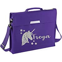 Personalised Unicorn Name Book Bag Glitter Bag School bags Boys Personalised Bags Girls Bags Back to School