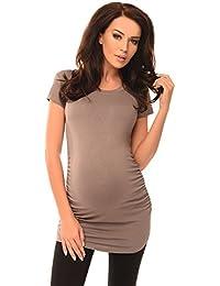 Purpless Damen Schlichtes Umstands Kurzarm Shirt Schwangerschafts Top  T-Shirt Geschenk für die Werdende Mutter 9ad72de397