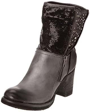 Bunker Han, Boots femme - Noir (W Black), 38 EU