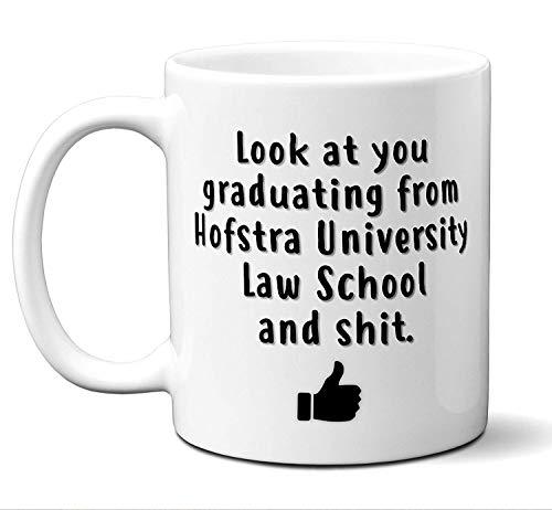 Law School Graduation Gift Coffee Mug, Tea Cup. Hofstra University Law School. Student Grad Idea JD Graduates, Women, Men, Him, Her Class 2019. Funny Academic Degree Congratulations. 11 oz. -