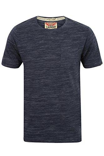 Tokyo Laundry Herren Blusen T-Shirt, Einfarbig grau grau Small Mood Indigo - Blue