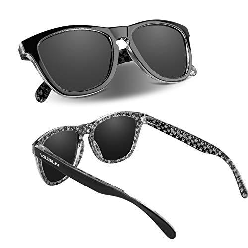 VILISUN Polarisierte Sport-Sonnenbrille, Unisex, geeignet für Outdoor-Sportarten Angeln Skifahren Golf Laufen Radfahren Camping (Schwarz)