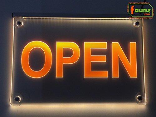abierto rojo Letrero cartel luz luminoso LED Ideal para escaparate//negocio//restaurante//fiesta 48 x 24cm