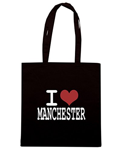 T-Shirtshock - Borsa Shopping WC0409 I love Manchester Nero