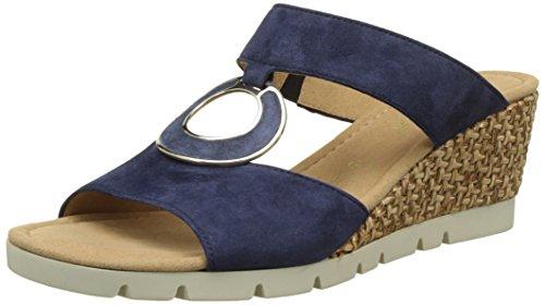 Gabor Comfort, Mules Femme Bleu (blue Grata)