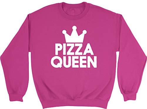 Shopagift Womens Pizza Queen Sweatshirt Pink