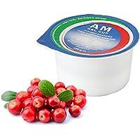AM Gel Cup acquagel Frutas Rojas con azúcar–Agua gelificata listo al uso 24tarros de 125g...