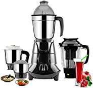 Butterfly Jet Elite Mixer Grinder, 750W, 4 Jars (Grey)