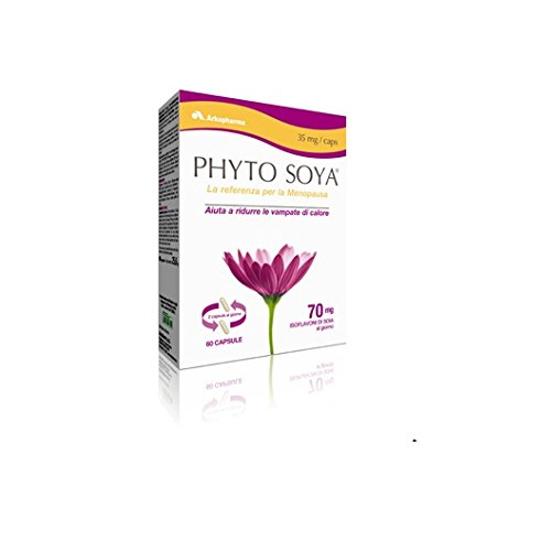 supplément alimentaire a base di estratti di soia utile per la ménopause phytosoya 60 capsule 35mg