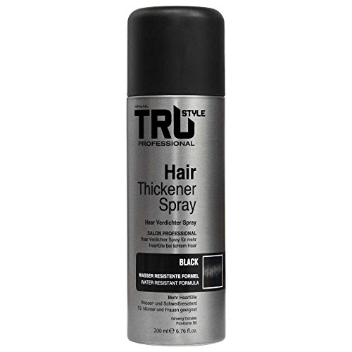 TruStyle Haarverdichter Spray Hair Thickener, 200ml (Schwarz)