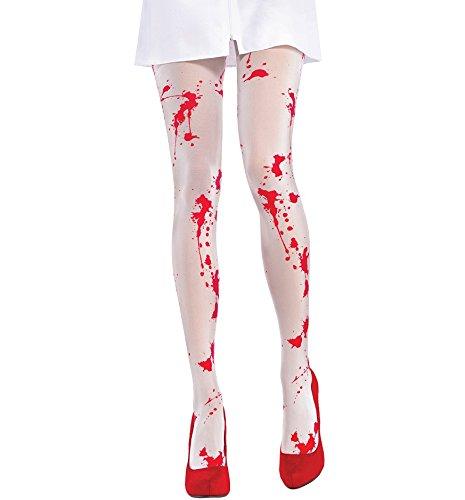 Blutige Strumpfhose (Blutige Krankenschwester Kostüm)