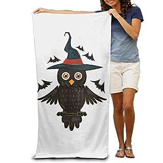DEFFWBb Beach Towel Halloween Owl Adn Bat Polyester Velvet Beach Towels 31.551.2 Inch