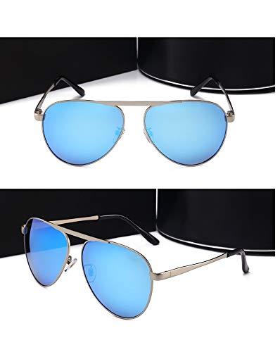 LKVNHP Neue Hochwertige 156Mm Übergroße Herren Sonnenbrille Polarisierte Breites Gesicht Männlich Fahren Gespiegelte Sonnenbrille Für Mann Luftfahrt MarkeBlau