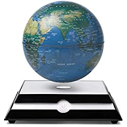 Magnetic Levitation World Map, LED Light Magnetic Suspension Ball Education World Map Creative Toy Novelty Gift For Kids Girl Boy