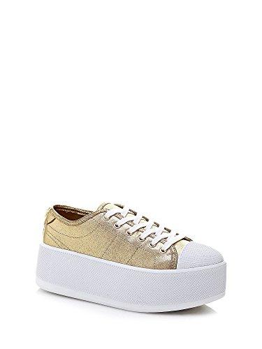 Guess Sneaker Mujer Furia cuña Aumentar Cm 7 Cuero White_38 EHCtWJ5iLI