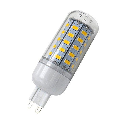 Aoxdi 1x G9 LED Lampe 7W, Warmweiß, 48 SMD 5730 LED G9 Birnen Ersatz für G9 Halogen Lampen, Kein Flackern, G9 LED Leuchtmittel, AC220-240V
