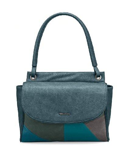 Borsa Tamaris Dalia, Shopper, Stile Patchwork, 3 Colori: Pettine Nero, Pettine Blu Oceano O Marrone Moca Marrone Oceano Blu