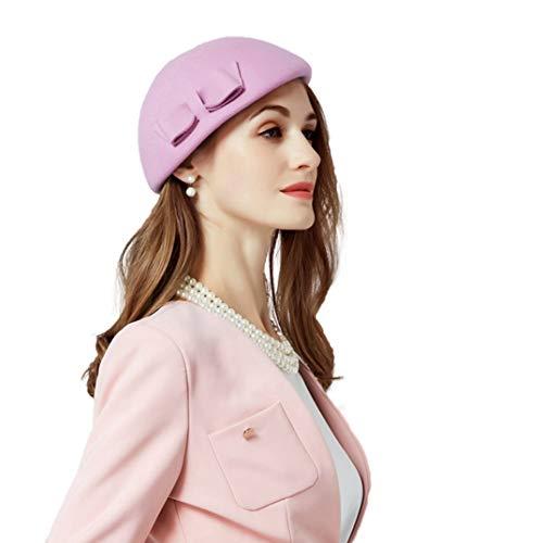 französische Bowknot Barett Hut Herbst Winter Vintage warme Mütze Cap ()