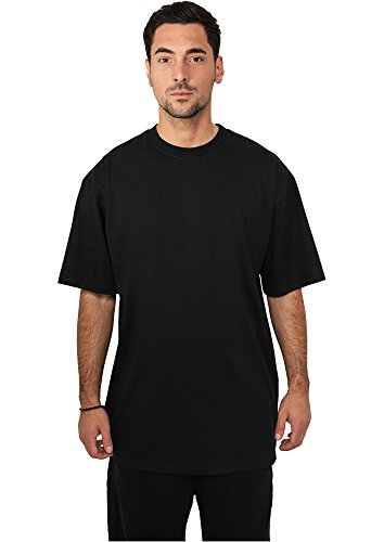 URBAN CLASSICS - Tall Tee (black), Gr. XXXL (Sleeve Zip Tee)