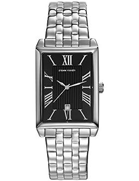 Pierre Cardin Armbanduhr Damenuhr Quarz Uhr PC-Belneuf - Analoge Uhr mit Datum, silbernem Edelstahlarmband und...