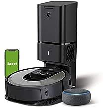 iRobot Roomba i7+ (i7556) - Robot Aspirador con Vaciado automático, aspiración de Alta Potencia y 2 cepillos + Echo Dot (3.ª generación) - Altavoz Inteligente con Alexa, Tela de Color Antracita