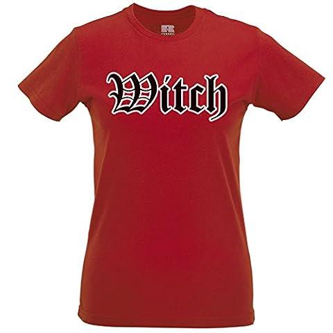 Halloween Old English Witch Coven Abendkleid-Partei-Kostüm Frauen T-Shirt (Old English Kostüm)