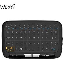 H18teclado Conjunto Panel Touchpad y Mini teclado inalámbrico de 2,4GHz, mando a distancia de mano con touchpad Ratón para Android TV Box, Windows PC, HTPC, IPTV, Raspberry Pi, Xbox 360, PS3, PS4(negro)