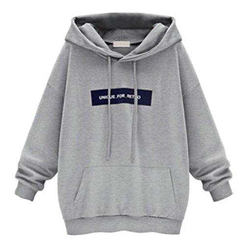 ITISME Damen StrickjackeFashion Women's Long Sleeve Hoodie Sweatshirt Jumper Letter Pullover Tops...