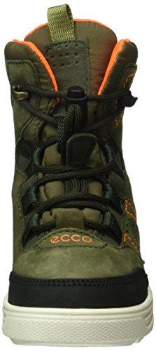 Ecco ECCO URBAN SNOWBOARD, Bottes en caoutchouc à tige basse et doublure chaude garçon Vert (DEEP FOREST/GRAPE LEAF/TARMAC50124)