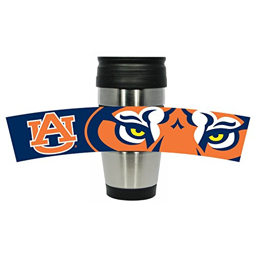 NCAA 15Oz Thermobecher Edelstahl Tumbler mit Team Farbe PVC Wrap, Herren Damen Unisex, Auburn Tigers -