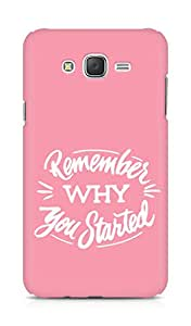 AMEZ remember why you started Back Cover For Samsung Galaxy J7