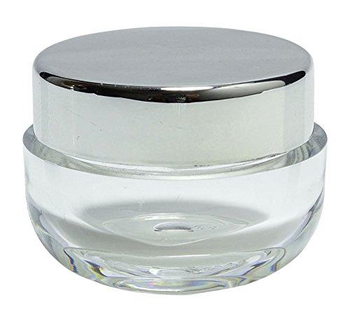 100 Stk. X 22 Gramm Leere Klare Kunststoff-Mason-Glas mit Silber Kappe Nachfüllbar Kosmetik