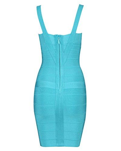 Whoinshop -  Vestito  - Donna Blu chiaro
