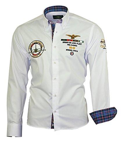 Louis Binder de Luxe 821 Herren Hemd modern fit weiß 42 (Button-down-kragen-shirt)
