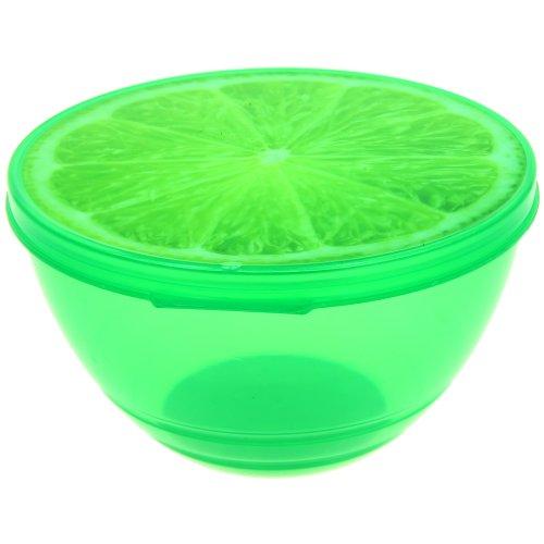 Promobo - Saladier Boite Alimentaire Box Fun Aspect Fruit Gourmand Citron Vert 0,5L