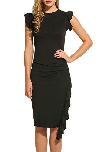 Etuikleid Business Kleid Sommerkleid Bleistiftkleid Festliches Partykleid Abendkleid Minikleid Knielang Pencil Kleid (Haut Enge B&c)